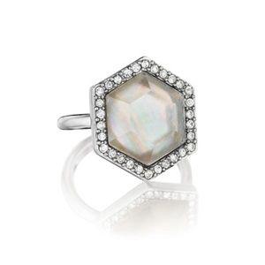 Meridian Hexagon ring
